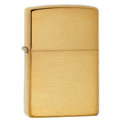 Zippo 204B Brushed Brass Solid