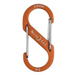 Nite Ize S-Biner Dual Carabiner ALU #3, oranssi